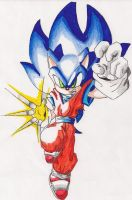 Sonic-DBZ Style Colored by Rampage625