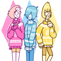 SU-Bird Moms with Sweaters by 763Lilypadpandaowl