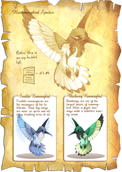 Flight Rising Bestiary: Hummingbird Sprites by neondragon