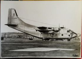 Fairchild C-123K Provider 'Large Marge' drawing by alainmi