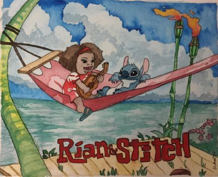 Rian and Stitch by mechangelrene
