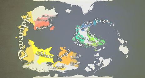 Building An Earthlike World: Language Map by manomow