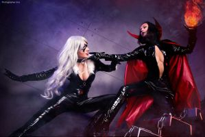 Black Cat vs Satana Hellstorm by bellatrixaiden