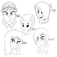 Human Characters Sketches by Salvagio2001