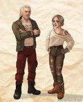 Modern AU Witchers by Miss-Crane