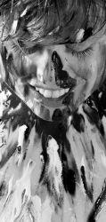 A Day in Black and White -  The Painty Bit2 by ArcanaPhotographic