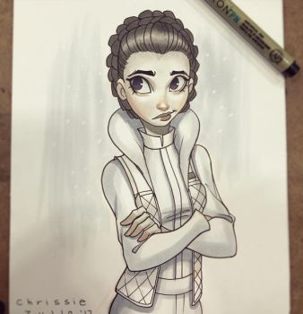 Leia on Hoth by ChrissieZullo
