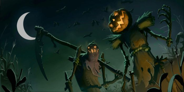 Spooky Scary Scarecrows by awesomeplex