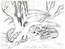 tree and dragon pencils by dhstein