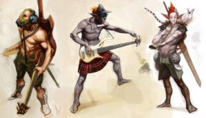 Dudes with guitars and swords. by matjosh