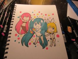 Vocaloid beach ball by Paranoid-spectrum