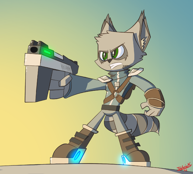 Tommie-action-pose by Tedwin-Knockman66