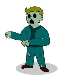 zombie VaultBoy by Legendary-Brown