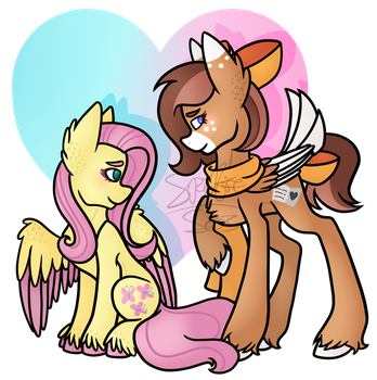 .:Commission:. Fluttershy and Poetic Sketch by Spitfire-SOS