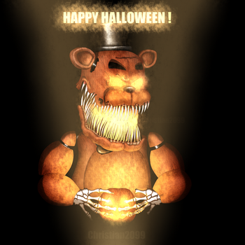 FNAF -Happy Halloween! by Christian2099