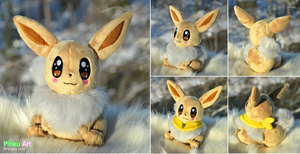 Shiny Eevee plush by PinkuArt