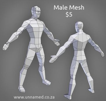 Low poly male model by YeshuaNel