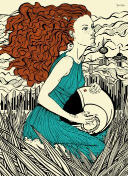 Contest. Girl with Earth. The Soviet Union in 2061 by Natamura
