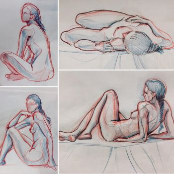 sketches of a model by DafnaWinchester