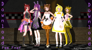 MMD-Fnaf fem Models Download by MikuTatsune25v