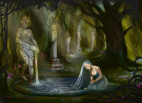 At the water WIP 9 by BlackBirdInk