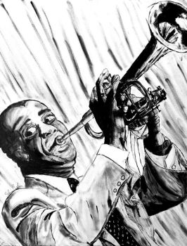 Louis Armstrong - Comission final by sabrinacurtis582