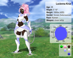 Lucienna Krux character sheet by Nakate