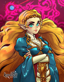 Princess Zelda - BOTW by Karenali