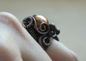 Morning Coffee - freeform ring by Bodza