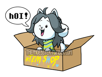 Temmie Sticker by ThePhoebster