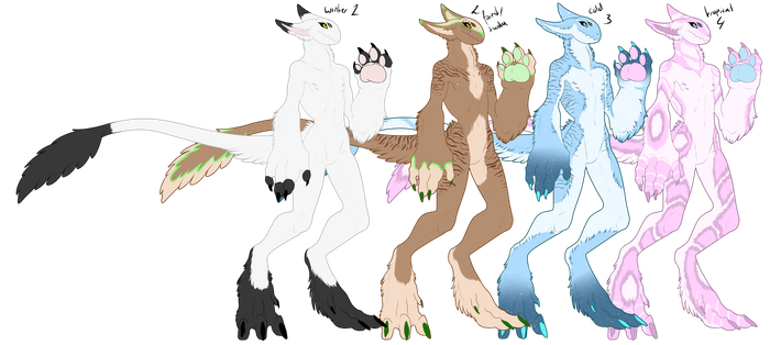 Female Grepple Color Examples by ShadowInkWarrior