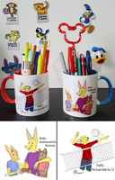 Birthday Mugs by Straw-Bear