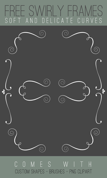Delicate Swirls Brushes and Custom Shapes by starsunflowerstudio