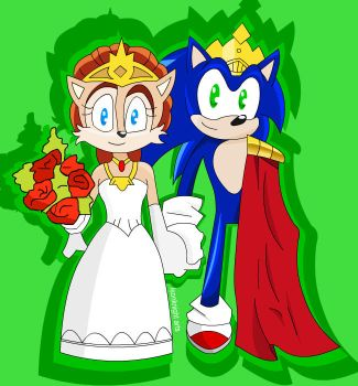 Queen Sally and King Sonic by Bound-For-Freedom