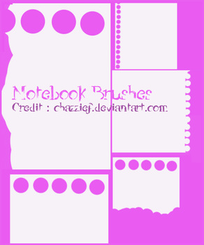 BRUSH PACK 3 : Notedd by chazzief