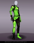 24H AUCTION - OUTFIT 827 (closed) - Shego by CherrysDesigns