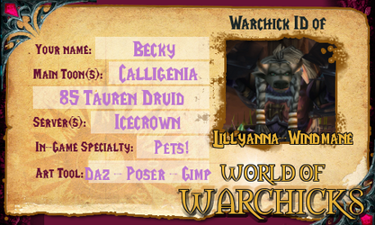 Warchicks ID by Lillyanna-Windmane
