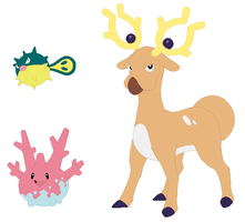 Qwilfish, Corsola and Stantler Base