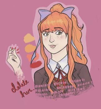 Just Monika. by madeeart