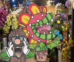 Fire Flower Shop of Horrors! by DrQuack64