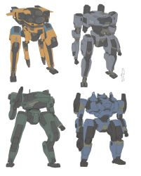 Mech sketch compilation 1 by TimoKujansuu