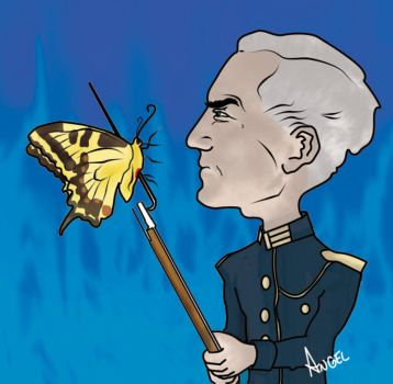 Caricatura: Ernst Junger by Anselo