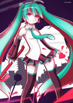 Streaming Heart Miku by Pokkiu