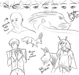 Commentary and Abbreviations Sketchdump by LadyDeliz