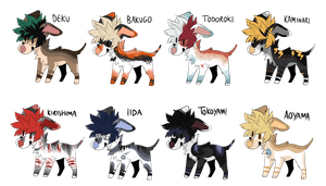 My Hero Academia / BNHA Dog Adopts (( CLOSED )) by ShadowPawWarrior