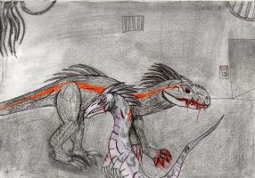JW: Join my side now or die! Indoraptor V Mavis by Crocodile-From-Space