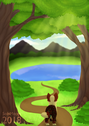 [AT] Forest lake by SobiMoppi