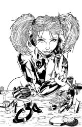 Harley Quinn - inks by teamzoth