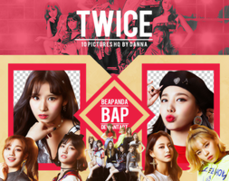 Pack Png 1158 // TWICE (WAKE ME UP) by BEAPANDA