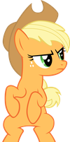 LR Applejack sitting by Kopachris